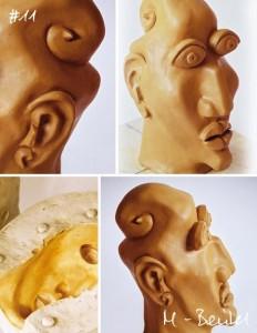 Ton-Skulptur