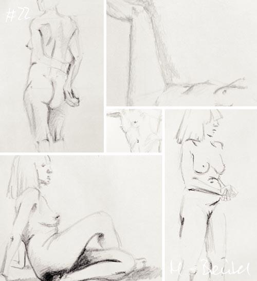 Akt-Zeichnungen