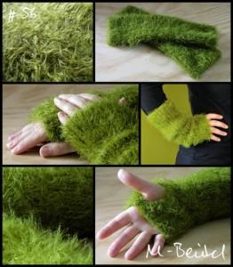 grüne Strick-Stulpen