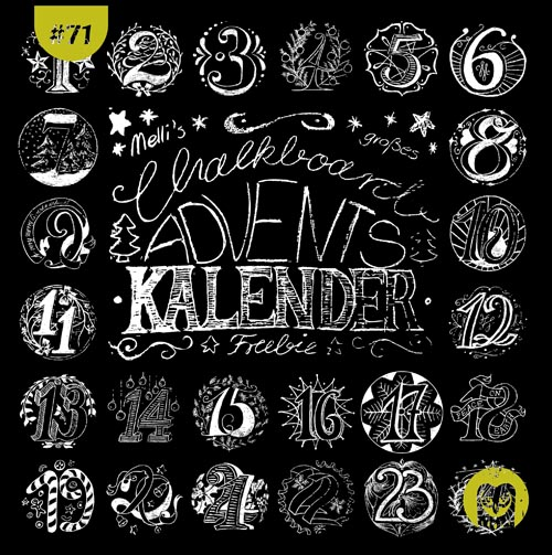 Adventskalender-Zahlen-Summary