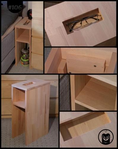 Nachtkästchen aus Holz