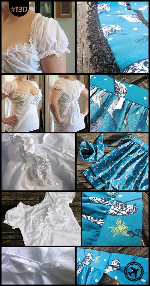 Dirndl-Bluse und Schürze