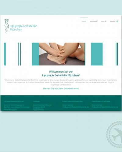 Homepage der LipLymph Selbsthilfe München